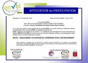 Afilec - Attestation Envol